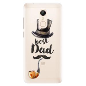 Silikonové pouzdro iSaprio (mléčně zakalené) Best Dad na mobil Xiaomi Redmi 5