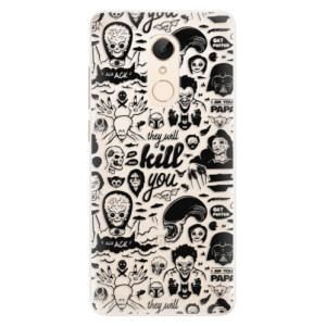 Silikonové pouzdro iSaprio (mléčně zakalené) Komiks 01 black na mobil Xiaomi Redmi 5