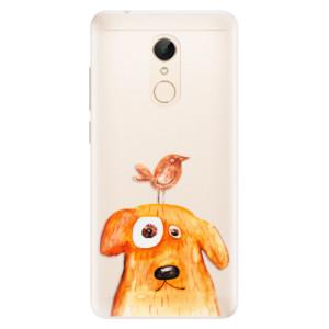 Silikonové pouzdro iSaprio (mléčně zakalené) Pejsek a Ptáček na mobil Xiaomi Redmi 5
