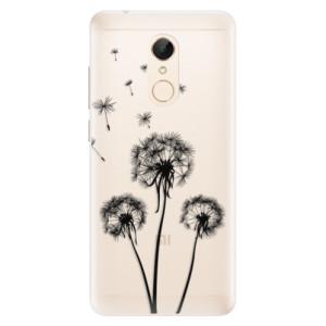 Silikonové pouzdro iSaprio (mléčně zakalené) Tři Černé Pampelišky na mobil Xiaomi Redmi 5