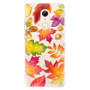 Silikonové pouzdro iSaprio (mléčně zakalené) Podzimní Lístečky na mobil Xiaomi Redmi 5