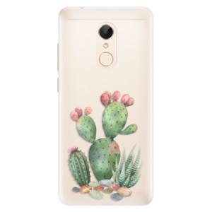 Silikonové pouzdro iSaprio (mléčně zakalené) Kaktusy 01 na mobil Xiaomi Redmi 5