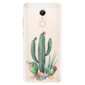 Silikonové pouzdro iSaprio (mléčně zakalené) Kaktusy 02 na mobil Xiaomi Redmi 5
