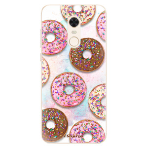 Silikonové pouzdro iSaprio (mléčně zakalené) Donutky Všude 11 na mobil Xiaomi Redmi 5 Plus