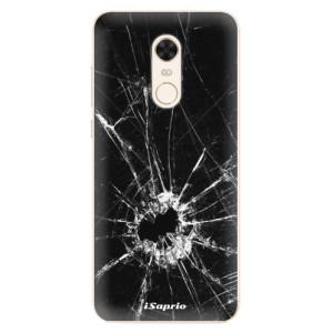 Silikonové pouzdro iSaprio (mléčně zakalené) Broken Glass 10 na mobil Xiaomi Redmi 5 Plus