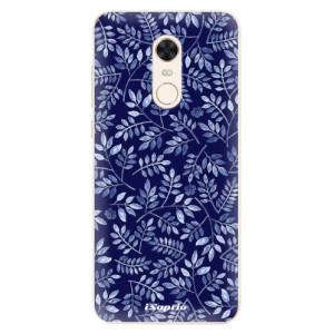 Silikonové pouzdro iSaprio (mléčně zakalené) Blue Leaves 05 na mobil Xiaomi Redmi 5 Plus