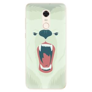 Silikonové pouzdro iSaprio (mléčně zakalené) Naštvanej Medvěd na mobil Xiaomi Redmi 5 Plus