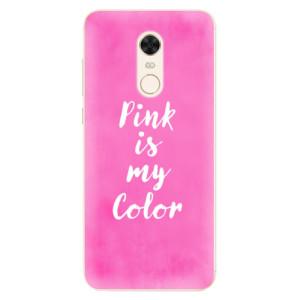 Silikonové pouzdro iSaprio (mléčně zakalené) Pink is my color na mobil Xiaomi Redmi 5 Plus - poslední kousek za tuto cenu