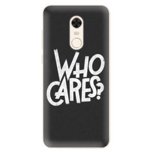 Silikonové pouzdro iSaprio (mléčně zakalené) Who Cares na mobil Xiaomi Redmi 5 Plus