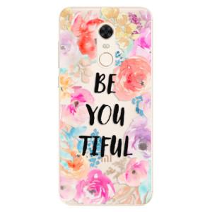 Silikonové pouzdro iSaprio (mléčně zakalené) BeYouTiful na mobil Xiaomi Redmi 5 Plus