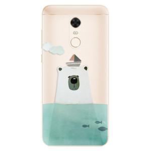 Silikonové pouzdro iSaprio (mléčně zakalené) Medvěd s Lodí na mobil Xiaomi Redmi 5 Plus