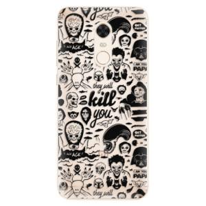 Silikonové pouzdro iSaprio (mléčně zakalené) Komiks 01 black na mobil Xiaomi Redmi 5 Plus