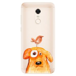 Silikonové pouzdro iSaprio (mléčně zakalené) Pejsek a Ptáček na mobil Xiaomi Redmi 5 Plus