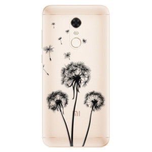 Silikonové pouzdro iSaprio (mléčně zakalené) Tři Černé Pampelišky na mobil Xiaomi Redmi 5 Plus