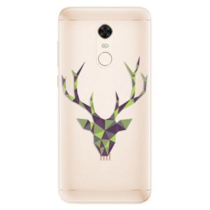 Silikonové pouzdro iSaprio (mléčně zakalené) Zelený Jelínek na mobil Xiaomi Redmi 5 Plus