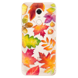 Silikonové pouzdro iSaprio (mléčně zakalené) Podzimní Lístečky na mobil Xiaomi Redmi 5 Plus