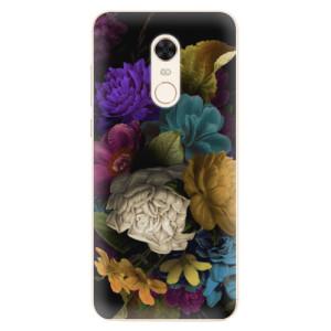 Silikonové pouzdro iSaprio (mléčně zakalené) Temné Květy na mobil Xiaomi Redmi 5 Plus