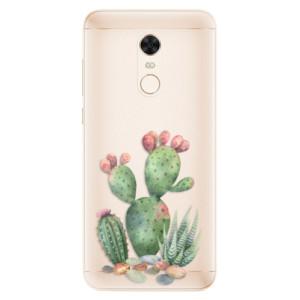 Silikonové pouzdro iSaprio (mléčně zakalené) Kaktusy 01 na mobil Xiaomi Redmi 5 Plus