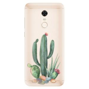 Silikonové pouzdro iSaprio (mléčně zakalené) Kaktusy 02 na mobil Xiaomi Redmi 5 Plus