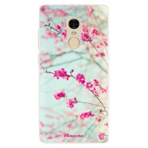 Silikonové pouzdro iSaprio (mléčně zakalené) Blossom 01 na mobil Xiaomi Redmi Note 4