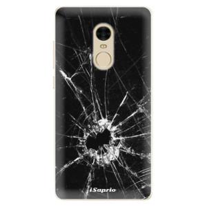 Silikonové pouzdro iSaprio (mléčně zakalené) Broken Glass 10 na mobil Xiaomi Redmi Note 4