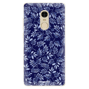 Silikonové pouzdro iSaprio (mléčně zakalené) Blue Leaves 05 na mobil Xiaomi Redmi Note 4