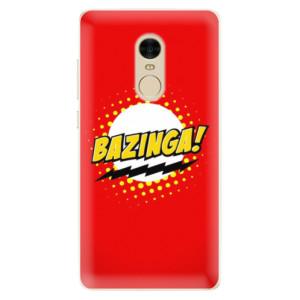 Silikonové pouzdro iSaprio (mléčně zakalené) Bazinga 01 na mobil Xiaomi Redmi Note 4