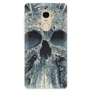 Silikonové pouzdro iSaprio (mléčně zakalené) Abstract Skull na mobil Xiaomi Redmi Note 4