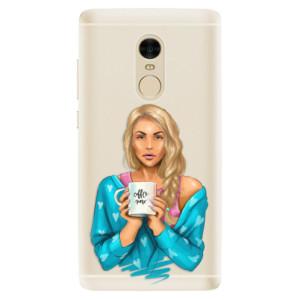 Silikonové pouzdro iSaprio (mléčně zakalené) Coffee Now Blondýna na mobil Xiaomi Redmi Note 4