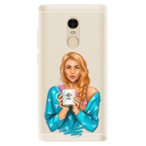Silikonové pouzdro iSaprio (mléčně zakalené) Coffee Now Zrzka na mobil Xiaomi Redmi Note 4