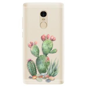 Silikonové pouzdro iSaprio (mléčně zakalené) Kaktusy 01 na mobil Xiaomi Redmi Note 4