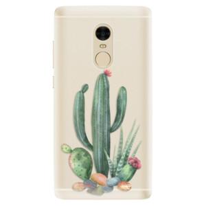 Silikonové pouzdro iSaprio (mléčně zakalené) Kaktusy 02 na mobil Xiaomi Redmi Note 4