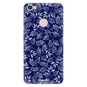 Silikonové pouzdro iSaprio (mléčně zakalené) Blue Leaves 05 na mobil Xiaomi Redmi Note 5A / 5A Prime