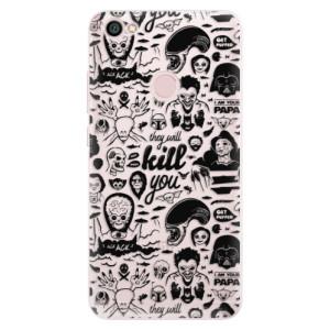 Silikonové pouzdro iSaprio (mléčně zakalené) Komiks 01 black na mobil Xiaomi Redmi Note 5A / 5A Prime