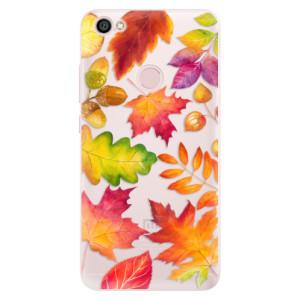 Silikonové pouzdro iSaprio (mléčně zakalené) Podzimní Lístečky na mobil Xiaomi Redmi Note 5A / 5A Prime