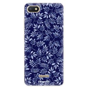 Silikonové pouzdro iSaprio (mléčně zakalené) Blue Leaves 05 na mobil Xiaomi Redmi 6A