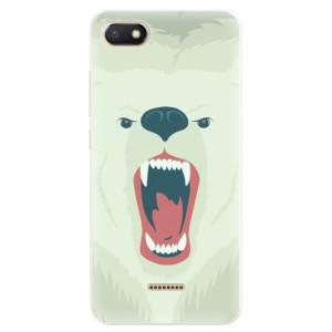 Silikonové pouzdro iSaprio (mléčně zakalené) Naštvanej Medvěd na mobil Xiaomi Redmi 6A