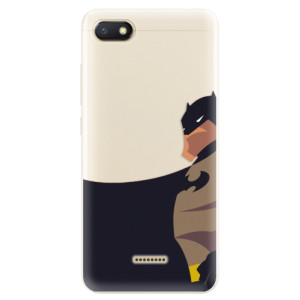 Silikonové pouzdro iSaprio (mléčně zakalené) BaT Komiks na mobil Xiaomi Redmi 6A