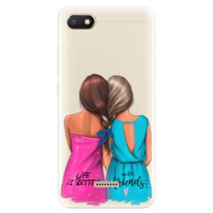 Silikonové pouzdro iSaprio (mléčně zakalené) Best Friends na mobil Xiaomi Redmi 6A