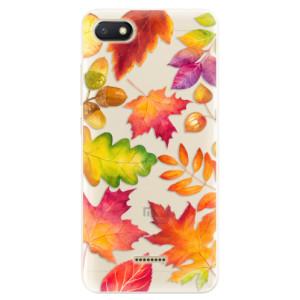 Silikonové pouzdro iSaprio (mléčně zakalené) Podzimní Lístečky na mobil Xiaomi Redmi 6A