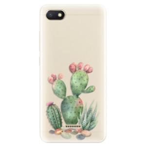 Silikonové pouzdro iSaprio (mléčně zakalené) Kaktusy 01 na mobil Xiaomi Redmi 6A