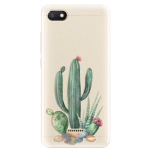 Silikonové pouzdro iSaprio (mléčně zakalené) Kaktusy 02 na mobil Xiaomi Redmi 6A
