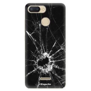 Silikonové pouzdro iSaprio (mléčně zakalené) Broken Glass 10 na mobil Xiaomi Redmi 6