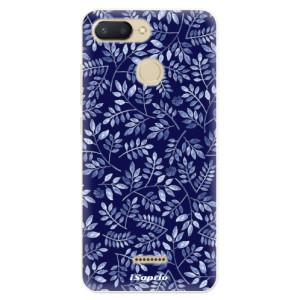 Silikonové pouzdro iSaprio (mléčně zakalené) Blue Leaves 05 na mobil Xiaomi Redmi 6