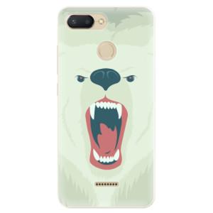Silikonové pouzdro iSaprio (mléčně zakalené) Naštvanej Medvěd na mobil Xiaomi Redmi 6