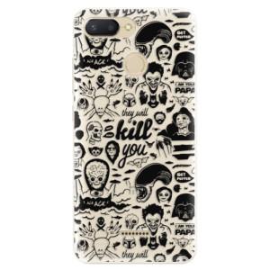 Silikonové pouzdro iSaprio (mléčně zakalené) Komiks 01 black na mobil Xiaomi Redmi 6