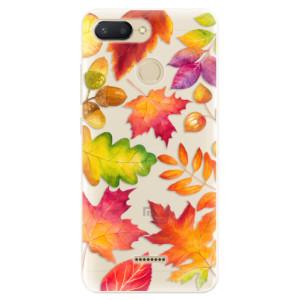 Silikonové pouzdro iSaprio (mléčně zakalené) Podzimní Lístečky na mobil Xiaomi Redmi 6