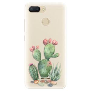 Silikonové pouzdro iSaprio (mléčně zakalené) Kaktusy 01 na mobil Xiaomi Redmi 6