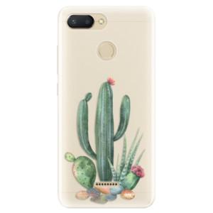 Silikonové pouzdro iSaprio (mléčně zakalené) Kaktusy 02 na mobil Xiaomi Redmi 6
