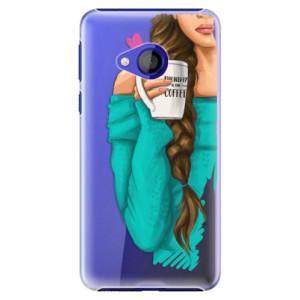 Plastové pouzdro iSaprio Brunetka s kafčem na mobil HTC U Play